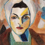 淑卡爾 自畫像 1943 (c) Saloua Raouda Choucair Foundation
