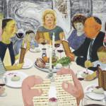 艾森曼 家宴 2011 複合媒材紙本 31×40.6cm 紐約私人收藏 Courtesy the artist and Koenig & Clinton, New York