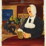 艾森曼 半個國王 2011 油彩墨水紙本 148×135cm 紐澤西私人收藏 Courtesy the artist and Koenig & Clinton, New York
